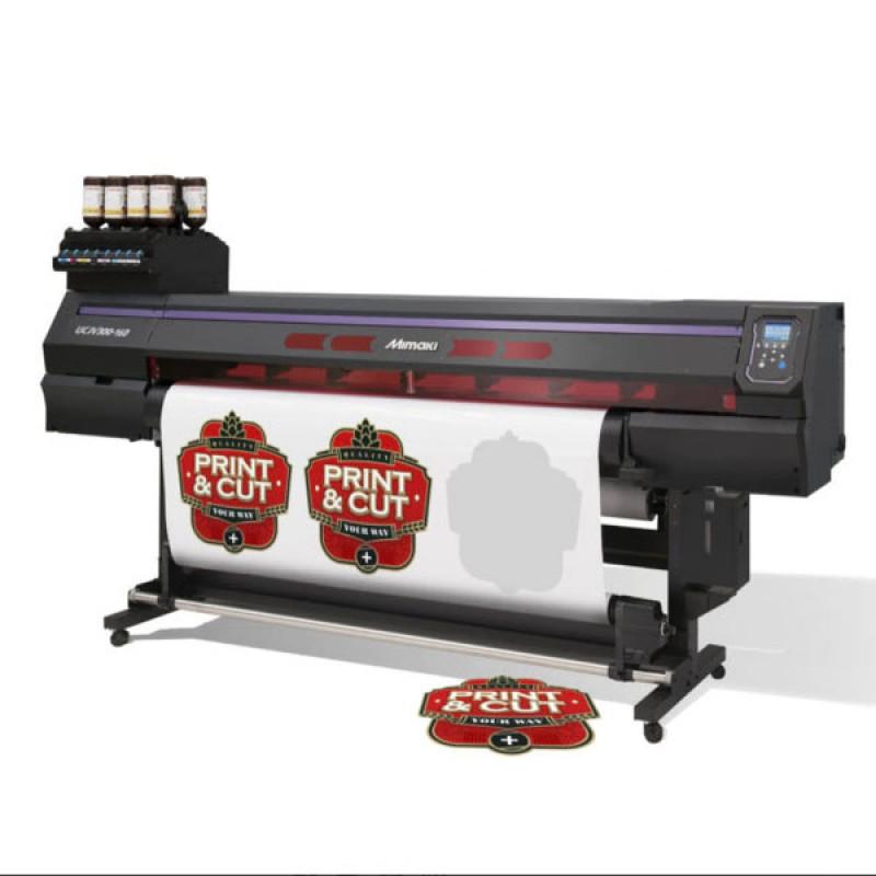 Mimaki UCJV300-130 UV LED Roll to Roll Cut and Print
